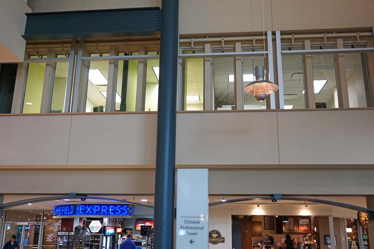 Chinook Family Dental   View From Food Court